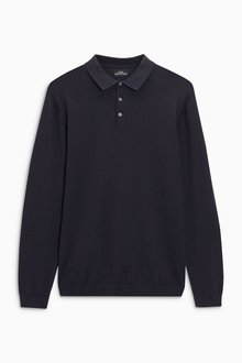 Next Long Sleeve Polo - 185731