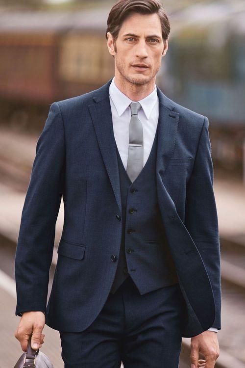Next Travel Suit: Trousers Slim Fit