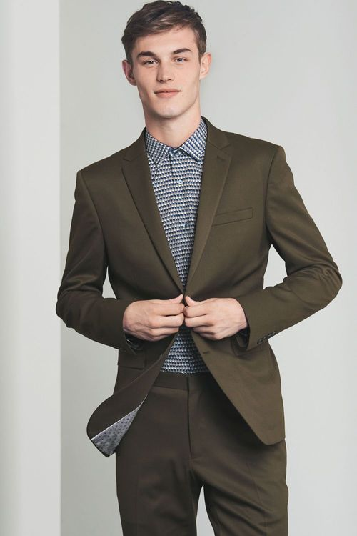 Next Stretch Twill Suit: Trousers Skinny Fit