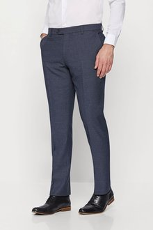 2cc21dc0f019 Next Textured Birdseye Suit: Trousers Tailored Fit