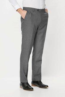 Next Textured Birdseye Suit: Trousers Slim Fit