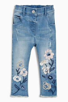 Next Flower Embellished Jeans (3mths-6yrs)