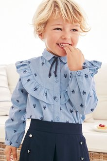 Next Cat Jacquard Shirt (3mths-6yrs)