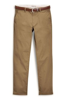 Next Smart Belted Chinos Straight Fit