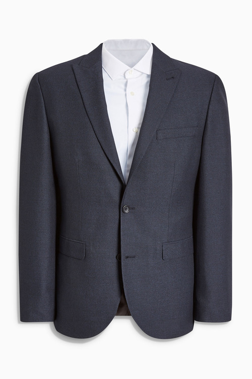 Next Textured Birdseye Suit: Jacket