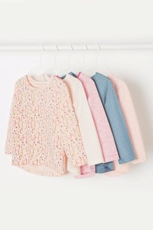 Next Long Sleeve T-Shirts Five Pack (3mths-6yrs)