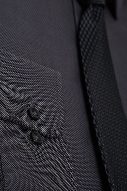 Next Textured Tonic Shirt And Tie Set Slim Fit Single Cuff