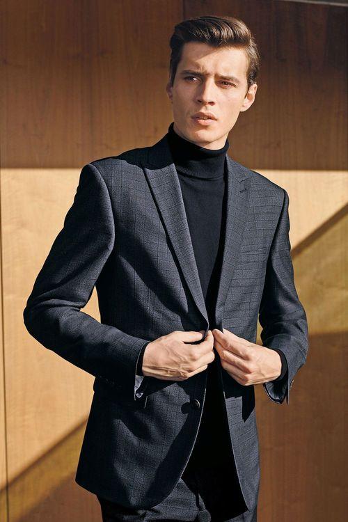 Next Check Slim Fit Suit: Jacket