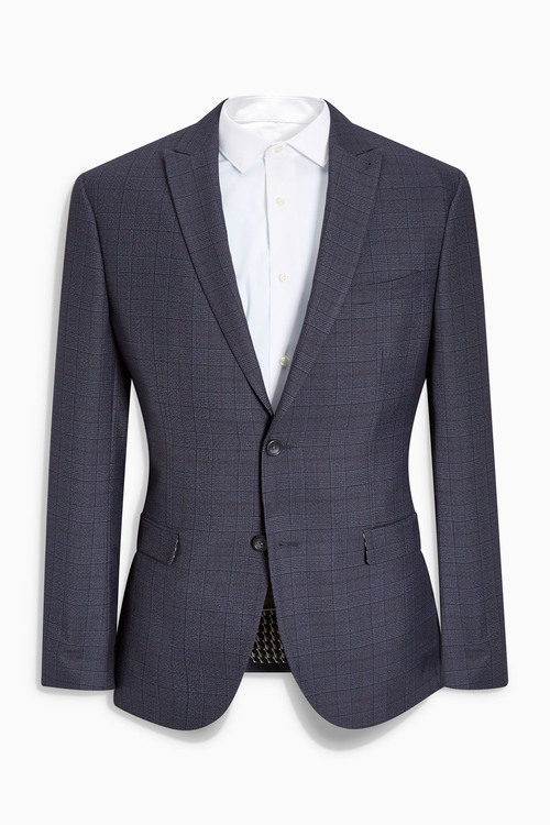 Next Check Slim Fit Suit: Jacket