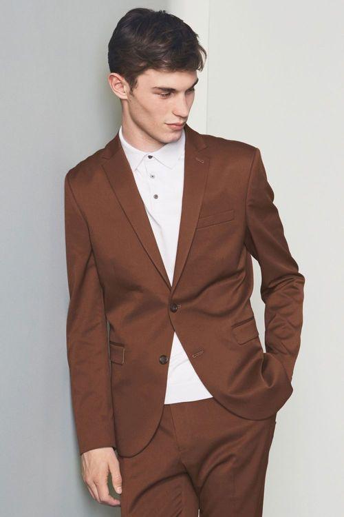 Next Stretch Twill Suit: Jacket Skinny Fit