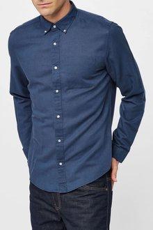 Next Long Sleeve Cotton Linen Shirt
