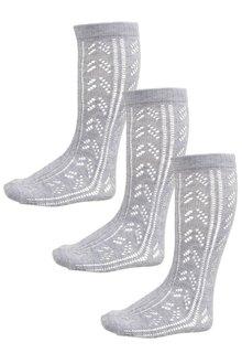 Next Pointelle Knee High Socks Three Pack (Older Girls) - 186293