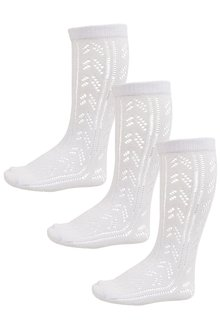 Next Pointelle Knee High Socks Three Pack (Older Girls)