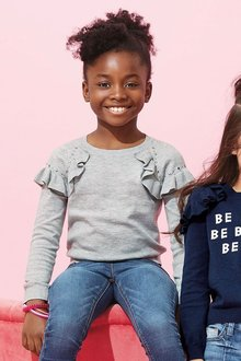 Next Bloom Ruffle Stud Sweater (3-16yrs)