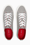 Next Stripe Canvas Lace-Up Baseball Pumps