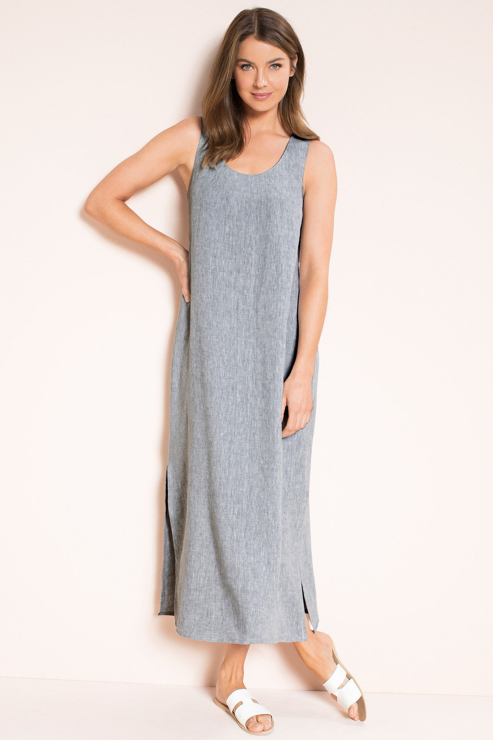 9de082de2ce Capture Linen Slip Dress Online