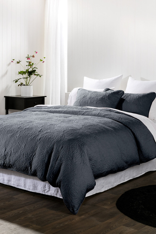 Camille Quilted Duvet Cover Set