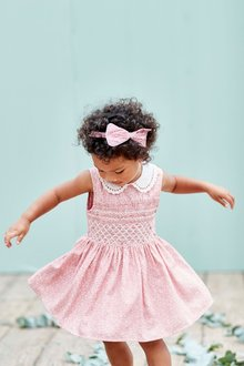 Next Ditsy Printed Shirred Collar Dress (3mths-6yrs)