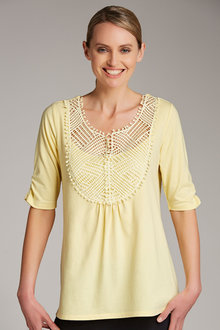 Capture Lace Front Tee - 186454
