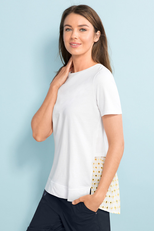Capture Broderie Back Tee