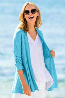 Capture Linen Drape Cardigan