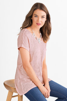 Capture Cross Back Tunic Tee