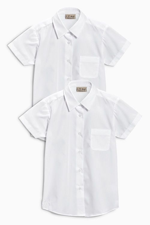 Next Short Sleeve Formal Blouse Two Pack (3-16yrs)