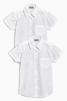 Next Short Sleeve Formal Blouse Two Pack (3-16yrs) - 186556