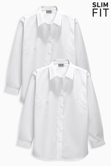 Next Long Sleeve Formal Blouse Two Pack (3-16yrs)
