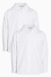 Next Long Sleeve Revere Collar Shirt Two Pack (3-16yrs)