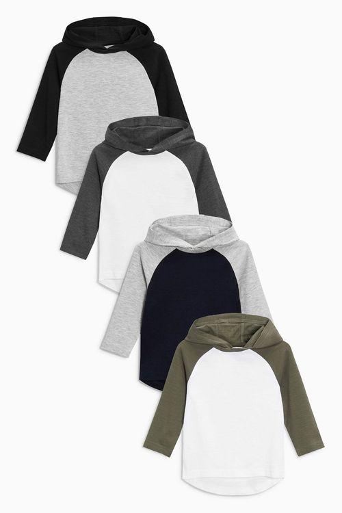 Next Long Sleeve Hoody Four Pack (3mths-6yrs)