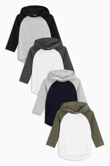 Next Long Sleeve Hoody Four Pack (3mths-6yrs)