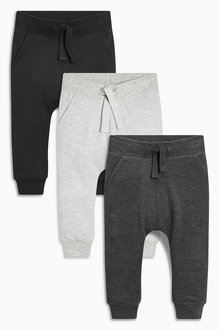 Next Super Skinny Joggers Three Pack (3mths-6yrs)