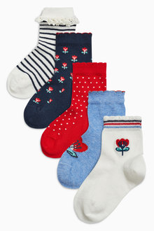 Next Ditsy Socks Five Pack (Younger Girls)