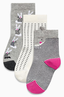 Next Bunny Socks Three Pack (Younger Girls)