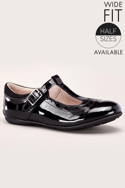 f8753dfaeb5 Next T-Bar Patent Shoes (Older Girls) Wide Fit Online
