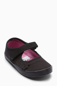 Next Flower Plimsolls (Older Girls)