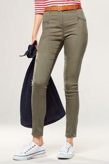 Next Zip Detail Skinny Trousers