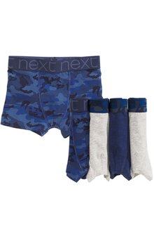 Next Camo Trunks Five Pack (2-16yrs)