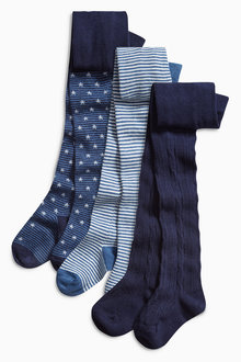 Next Star And Stripes Tights Three Pack (0mths-6yrs)