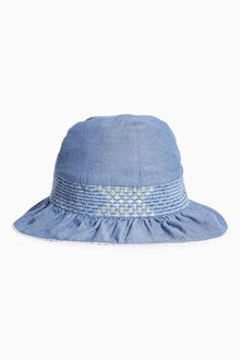 Next Chambray Embroidered Dress Hat (Younger Girls)