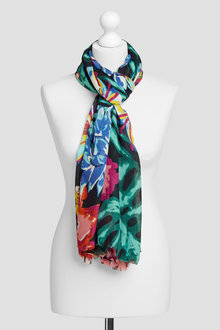 Next Black Multi Printed Scarf