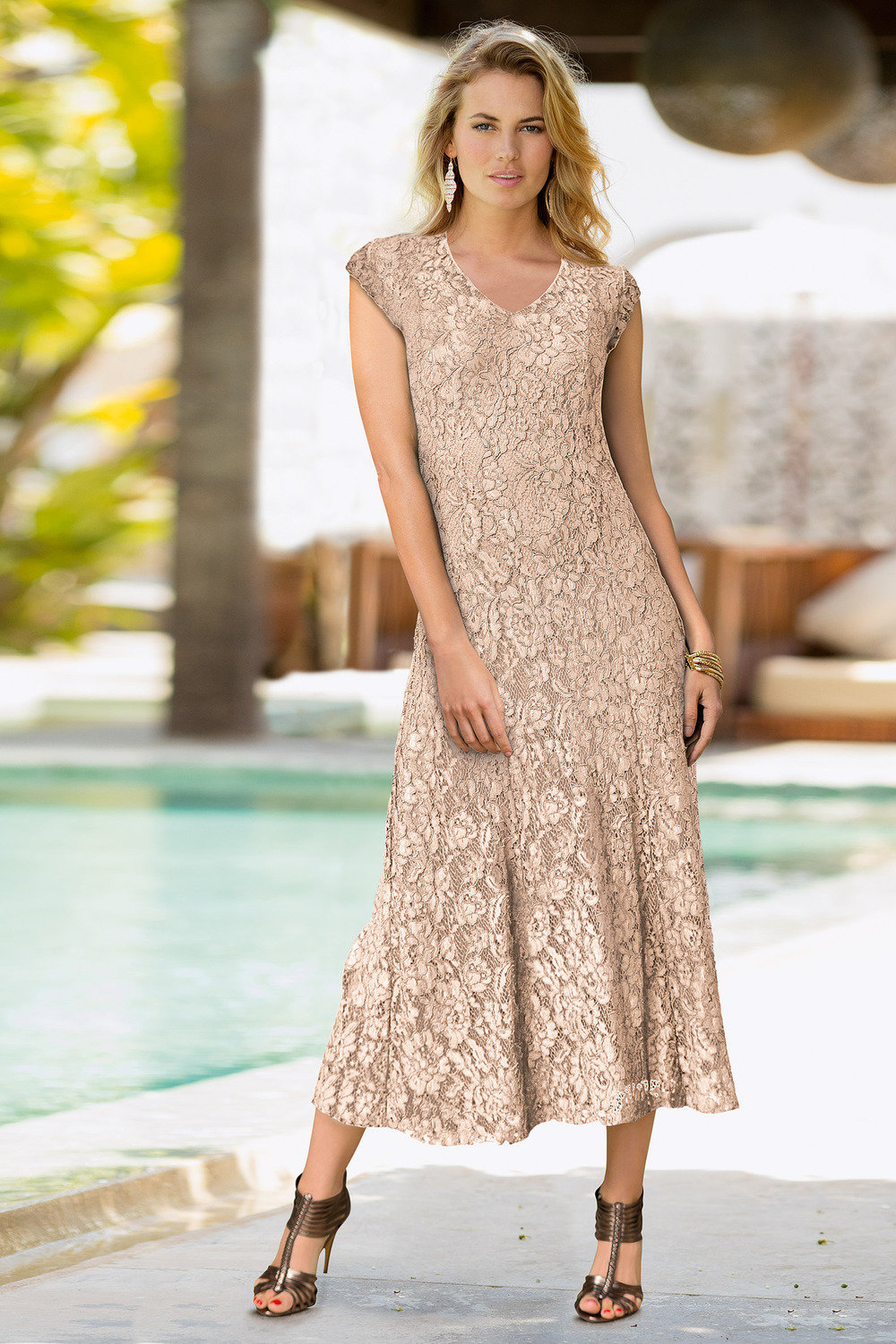 ba5bf514ec6 Together Sleeveless Lace Dress Online