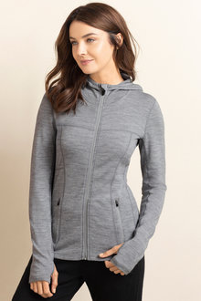 Isobar Merino Zip Through Cardigan
