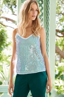 Next Sequin Cami Top