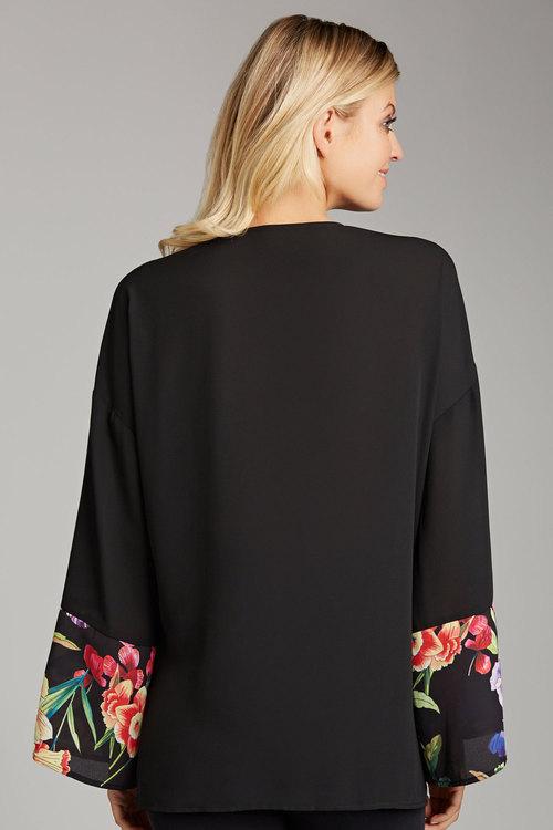 Capture Print Trim Kimono