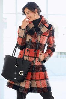 Kaleidoscope Double Breasted Check Coat
