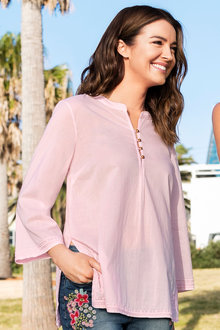 Capture Embroidered Voile Shirt