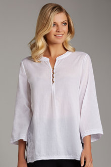 Capture Embroidered Voile Shirt - 187527