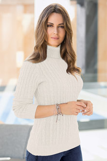 Together Cable Front Sweater